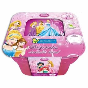 Recipiente Cuadrado Princesas 350 Ml 3 Pzas Disney 82045 Sto