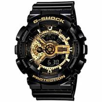 Relogio Casio G Shock Ga110 Original Black Gold Frete Gratis
