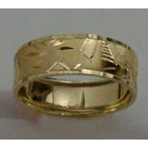 Swjoias Anel Aliança Escrava Desenho Egipcio Ouro18k 750
