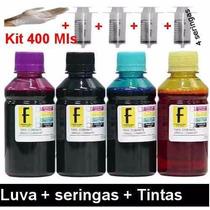 Refil Tinta Impressora Eps L100 L200 L210 L355 L555 400ml