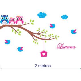 Adesivo Parede Infantil Menino Menina Coruja Safari 2 Metros