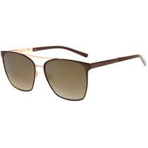 Ana Hickmann Ah 3138 - Óculos De Sol 01a Marrom E Dourado