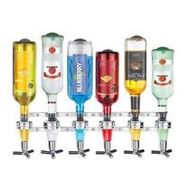 Suporte Dispenser Dosador De Bebidas Drink Bar 6 Garrafas