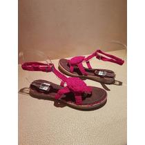 Zapatos Para Mujer Sandalias Tejidas A Mano Talla 6 Rosa