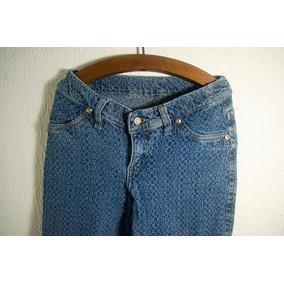 Jeans Con Textura Levanta Cola Talla 26