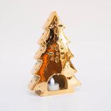 Fanal Candelabro Arbol De Navidad De Porcelana Dorado Oro