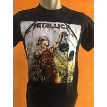 Camisas Bandas Rock Metal - Metallica - 100% Algodão Top