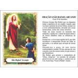 Santinho São Rafael Arcanjo Igreja Católica C/100 #sf-0130