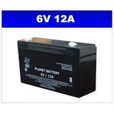 Bateria 6v 12a Planet P/ Moto Eletrica E Outros