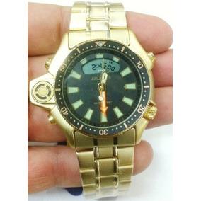 2208831bd73 Vidro Pra Relogio Ouro Gold Tag Hal - Relógio Atlantis Masculino no ...