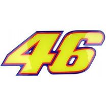 Adesivo Valentino Rossi 46 Médio Resinado Alto Relevo