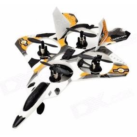 Avião Caça Cx-12 Quadricóptero Estilo Drone Com Controle