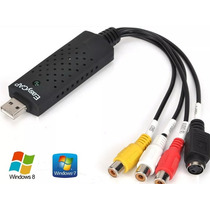 Placa Captura Externa Usb Audio Video Vhs Dvd Pc Conversor