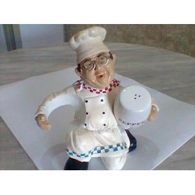 Galheteiro Antigo Cozinheiro Chef De Cozinha De Óculos