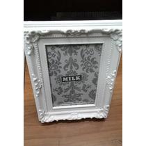 Porta Retrato 10x15 Retrô Vintage Branco Moldura