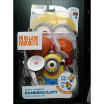 Mi Villano Favorito Arma A Minion Bombero / Lucy 2 En 1