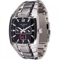 Relógio Technos Masculino Quadrado Multifunção 6p29fk/1p