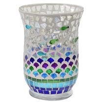 Vaso Decorativo Mosaico Em Vidro - Btc