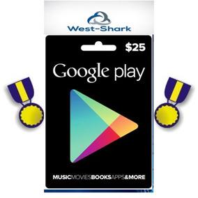 Tarjeta Prepago Google Play Usd 25. (región Usa) +