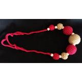 Collar De Lactancia Tejido Al Crochet