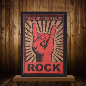 Placas Poster Vintage Bandas Cantores De Rock 51x36 Cm
