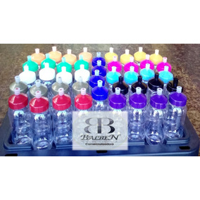 Termos Cristalino De Pet 500ml Con Tapa De Colores