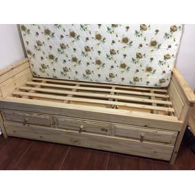 Camas con carricama camas de 1 plaza en mercado libre for Divan cama con cajones 1 plaza