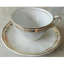 Juego Té 12piezas Porcelana Creamopetal Grendley, Inglaterra