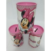 Kit Com 10 Cofres Persnalizado Minnie Rosa