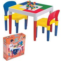 Mesa Multi Atividades Com Blocos De Montar - Bell Toy 9050