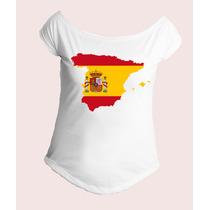 Camiseta Espanha Spain España Mapa Bandeira Gola Canoa 04