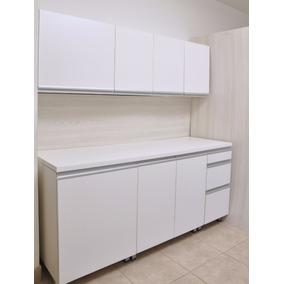 Mueble De Cocina 1,80 Mts Manijas J Aluminio Bajo Mesada