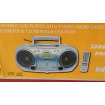 Radio Gravador Toca Fita Cassete Cd Usb Dvd Cartao Control