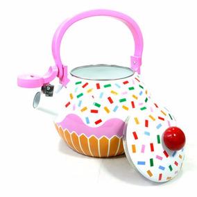 Chaleira Esmaltada Cupcake 1,6l - Menor Preço!!