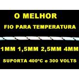Fio Temperatura Amianto 1,5mm Para Até 400 Graus 3 Metros