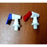 2 Canillas Dispenser Agua - Fría Y Caliente - Rosca Macho