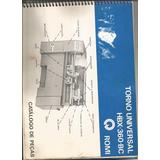 Manual Catalogo Peças Torno Hbx360 Bc Romi Copiador Oferta