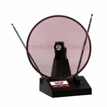 Antena Interna Miniparabólica Circular Tv Digital G20