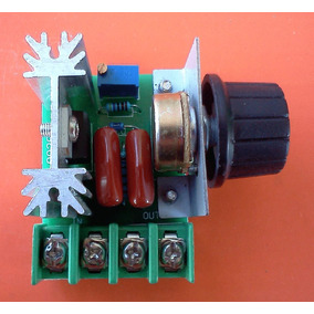 Regulador De Voltaje Variable Ac Termostato Atenuador 2000w