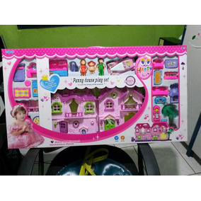 Casa Boneca Infantil +boneca+acessórios/ Casa 48 X 25cm