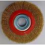 Escova Circular De Aço Para Esmeril 6 X 3/4 Furo Universal