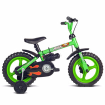 Bicicleta Infantil Aro 12 Rock Verde Menino Verden