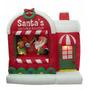 Decoracion P/ Navidad Taller De Santa Claus Inflable C/ Luz
