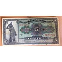 Billete 1915 Republica Mexicana 5 Pesos Excelente