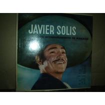 Javier Solis Con Acompañamiento De Mariachis - Lp Vinilo