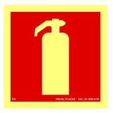 Placa Extintor 15x15cm Fotoluminescente Npt 20 Bombeiros