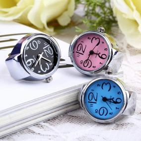 Bonito Reloj Anillo De Mujer