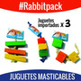 Juguetes Masticables Para Conejos Roedores Hurones X 3