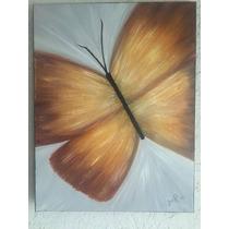 Pintura Al Óleo Mariposa