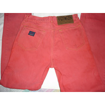 Pantalón Marca Stone Island Denim Color Rojo Ladrillo